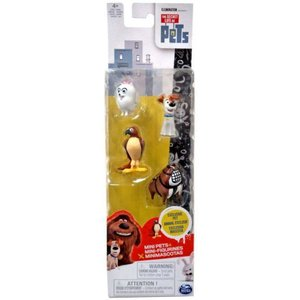 ザ シークレット ライフ オブ ペッツ スピンマスター フィギュア おもちゃ Mini Pets Max, Gidget, Tiberius & Bulldog Henchman Figure 4-Pack|fermart-hobby