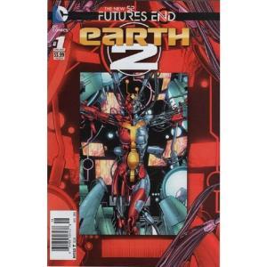 ニュー52 The New 52 本・雑誌 DC Futures End Earth 2 Comic Book [One-Shot, Lenticular Cover]|fermart-hobby