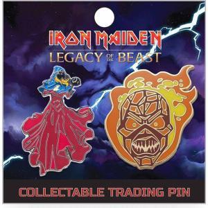 アイアン メイデン Iron Maiden グッズ : Legacy of the Beast Wicker Eddie & The Clairvoyant 2-Inch Lapel Pin Set|fermart-hobby