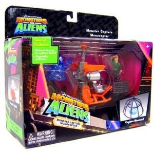 モンスターVSエイリアン Monsters vs. Aliens おもちゃ・ホビー Monster Capture Monocopter Playset|fermart-hobby
