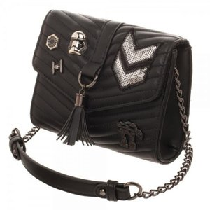 スターウォーズ Star Wars バイオワールド Bioworld おもちゃ Dark Side Quilted Crossbody Bag with Tassel|fermart-hobby