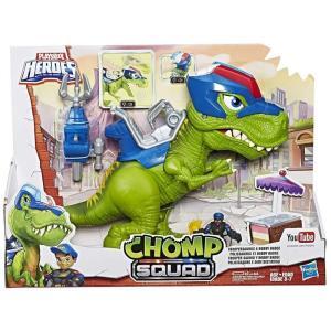 ヒーローズ Heroes フィギュア Playskool Chomp Squad Troopersaurus & Bobby Badge Action Figure|fermart-hobby