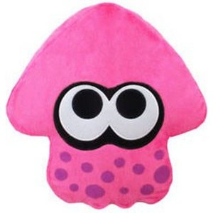 スプラトゥーン Splatoon ぬいぐるみ・人形 Neon Pink Squid Cushion Plush|fermart-hobby