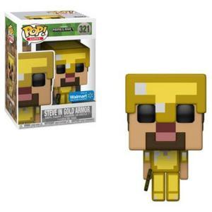 マインクラフト Minecraft フィギュア ビニールフィギュア POP! Video Games Steve in Gold Armor Exclusive Vinyl Figure|fermart-hobby