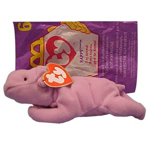 ビーニーベイビーズ Beanie Babies Ty ぬいぐるみ おもちゃ McDonalds 1998 Happy the Hippo Teenie Beanie Plush #6|fermart-hobby