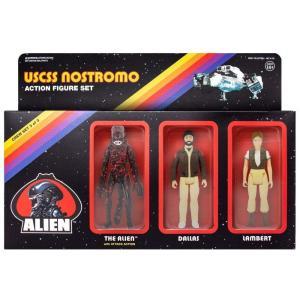 リアクション ReAction フィギュア Dallas, Lambert & Bloody Xenomorph Alien Action Figure 3-Pack|fermart-hobby