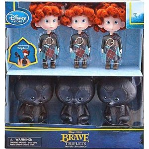 メリダと恐ろしの森 Brave ぬいぐるみ・人形 / Pixar Triplets & Bears Exclusive Doll Set|fermart-hobby