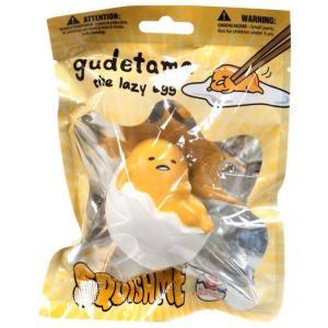ぐでたま Gudetama おもちゃ・ホビー スクイーズ Sanrio Squishme Squeeze Toy [Laying Down in Shell]|fermart-hobby