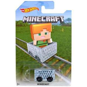 マインクラフト Minecraft マテル Mattel Toys ダイキャストフィギュア おもちゃ Hot Wheels Minecart Diecast Vehicle [Alex]|fermart-hobby