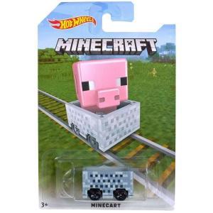 マインクラフト Minecraft マテル Mattel Toys ダイキャストフィギュア おもちゃ Hot Wheels Minecart Diecast Vehicle [Pig]|fermart-hobby