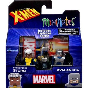 エックスメン ダイアモンド セレクト フィギュア おもちゃ Marvel Minimates Series 60 Strike Force Storm & Avalanche Minifigure 2-Pack|fermart-hobby