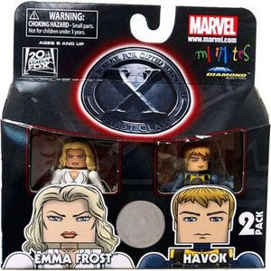エックスメン X-Men ダイアモンド セレクト フィギュア おもちゃ Marvel Minimates First Class Emma Frost & Havok Exclusive Minifigure 2-Pack|fermart-hobby