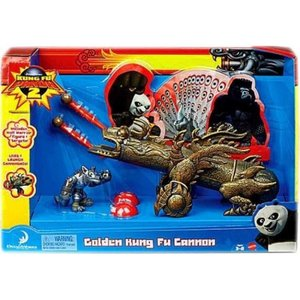 カンフー パンダ Kung Fu Panda マテル Mattel Toys おもちゃ 2 Golden Kung Fu Cannon Exclusive Playset|fermart-hobby