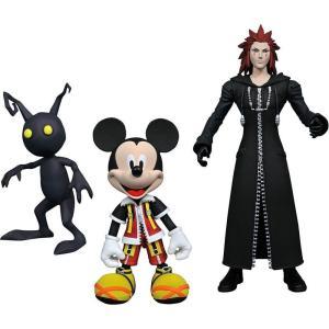 キングダム ハーツ Kingdom Hearts ダイアモンド セレクト フィギュア おもちゃ Disney Select Mickey Mouse, Axel & Shadow Action Figures|fermart-hobby