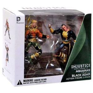 アクアマン Aquaman ディーシー コミックス DC Collectibles フィギュア おもちゃ DC Injustice: Gods Among Us & Black Adam Action Figure 2-Pack fermart-hobby