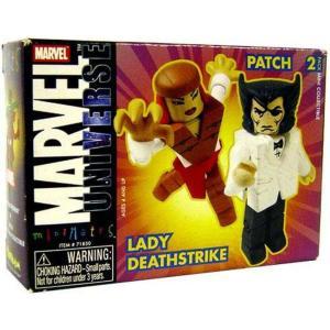 ウルヴァリン Wolverine ダイアモンド セレクト フィギュア おもちゃ Marvel Universe Minimates Series 9 Patch & Lady Deathstrike Minifigure 2-Pack []|fermart-hobby
