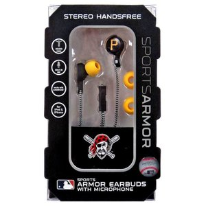 ミズコ Mizco ユニセックス テックアクセサリー NFL Sports Armor Pittsburgh Pirates Earbuds [with Microphone]|fermart-hobby