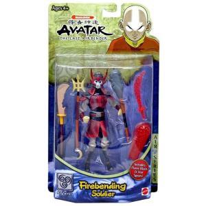 アバター Avatar マテル Mattel Toys フィギュア おもちゃ the Last Airbender Soldier Action Figure [Firebending]|fermart-hobby