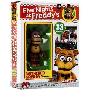ファイヴナイツアットフレディーズ Five Nights at Freddy's マクファーレントイズ おもちゃ The Party Wall Micro Construction Set [Withered Freddy]|fermart-hobby