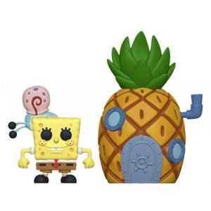 スポンジ ボブ Spongebob Squarepants フィギュア POP! Town Spongebob with Gary & Pineapple House Vinyl Figure #02 fermart-hobby