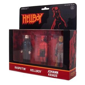 リアクション ReAction フィギュア Hellboy Series 2 Rasputin, Hellboy & Johann Kraus Action Figure 3-Pack|fermart-hobby