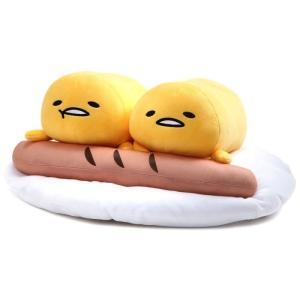 サンリオ Sanrio ぬいぐるみ・人形 ぬいぐるみ Gudetama x2 with Sausage 17-Inch Plush|fermart-hobby