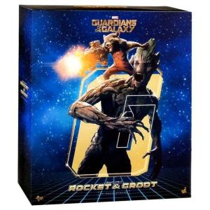 ガーディアンズ オブ ギャラクシー ホットトイズ フィギュア おもちゃ Marvel Movie Masterpiece Rocket & Groot 1/6 Collectible Figure Set|fermart-hobby