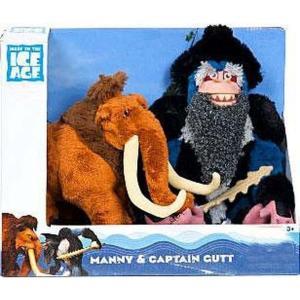 コンチネンタルドリフト Continental Drift ぬいぐるみ・人形 Ice Age Manny & Captain Gutt Exclusive Plush Figure 2-Pack|fermart-hobby