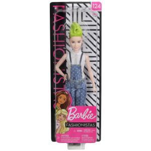 バービー Barbie ぬいぐるみ・人形 Fashionistas 13.25-Inch Doll #124 [Overalls, Green Hair]|fermart-hobby