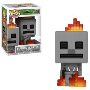 マインクラフト Minecraft ファンコ Funko フィギュア おもちゃ POP! Video Games Flaming Skeleton Exclusive Vinyl Figure|fermart-hobby
