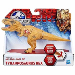 ジュラシック ワールド Jurassic World ハズブロ Hasbro Toys フィギュア おもちゃ Bashers & Biters Tyrannosaurus Rex Action Figure [Brown]|fermart-hobby