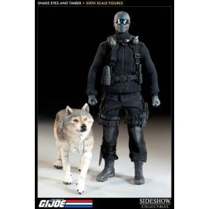 ジー アイ ジョー GI Joe サイドショウ Sideshow Collectibles フィギュア おもちゃ Snake Eyes & Timber 1/6 Collectible Figure|fermart-hobby