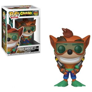 クラッシュ バンディクー Crash Bandicoot フィギュア POP! Games Vinyl Figure #421 [With Scuba Gear]|fermart-hobby