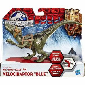 ジュラシック ワールド Jurassic World ハズブロ Hasbro Toys フィギュア おもちゃ Bashers & Biters Velociraptor Blue Action Figure|fermart-hobby