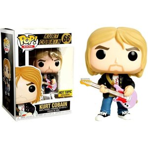 カート コバーン Kurt Cobain ファンコ Funko フィギュア おもちゃ Nirvana POP! Rocks Exclusive Vinyl Figure #66 [Black Sweater, Pink Guitar]|fermart-hobby