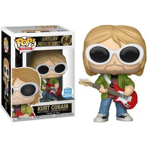カート コバーン Kurt Cobain ファンコ Funko フィギュア おもちゃ Nirvana POP! Rocks Exclusive Vinyl Figure #64 [White Sunglasses, Red Guitar]|fermart-hobby