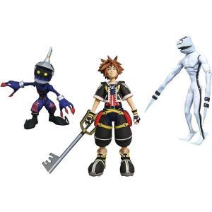 キングダム ハーツ Kingdom Hearts ダイアモンド セレクト Diamond Select Toys フィギュア おもちゃ Disney Select Sora, Dusk & Soldier Action Figures|fermart-hobby