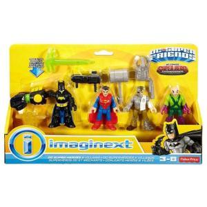 イメージネクスト フィッシャープライス フィギュア DC Super Friends Super Hero Showdown Batman, Superman, Metallo & Lex Luthor 3-Inch Figure 4-Pack|fermart-hobby