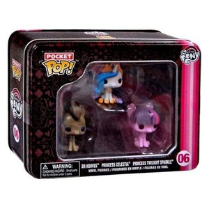 マイリトルポニー My Little Pony フィギュア Pocket POP! Dr. Hooves, Princess Celestia & Princess Twilight Sparkle Vinyl Mini Figure Tin 3-Pack|fermart-hobby