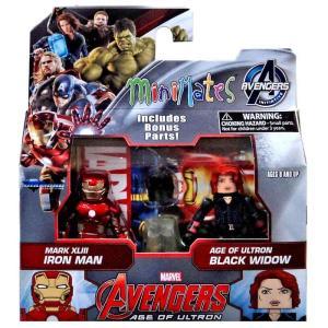 アイアンマン Iron Man ダイアモンド セレクト フィギュア おもちゃ Marvel Avengers Age of Ultron Minimates Series 61 & Black Widow Minifigure 2-Pack|fermart-hobby