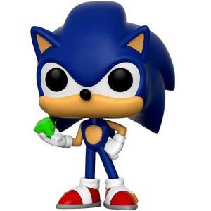 ソニック ザ ヘッジホッグ Sonic The Hedgehog フィギュア ビニールフィギュア POP! Games Sonic with Emerald Vinyl figure|fermart-hobby