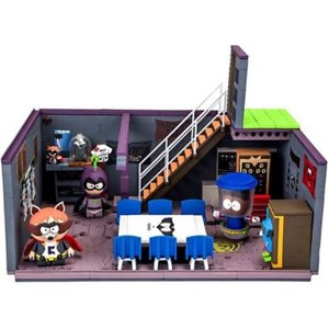 サウスパーク South Park マクファーレントイズ おもちゃ Cartman's Basement with The Coon, Mysterion & Tupper Wear Exclusive Large Construction Set|fermart-hobby