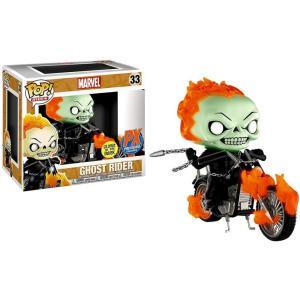 ゴーストライダー Ghost Rider ファンコ Funko フィギュア おもちゃ Marvel POP! Rides with Bike Exclusive Vinyl Figure [Glow in the Dark]|fermart-hobby