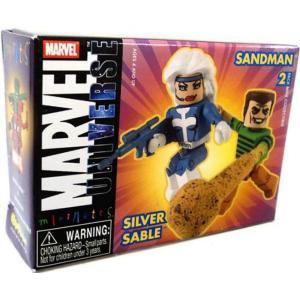 サンドマン Sandman ダイアモンド セレクト フィギュア おもちゃ Marvel Universe Minimates Series 10 Silver Sable & 2 Minifigure 2-Pack|fermart-hobby