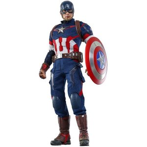 キャプテン アメリカ Captain America ホットトイズ Hot Toys フィギュア おもちゃ Marvel Avengers Age of Ultron 1/6 Collectible Figure|fermart-hobby