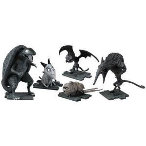 フランケンウィニー Frankenweenie フィギュア Turtle Monster, After Life Sparky, Vampire Cat, Hamster Mummy & Wererat Mini Figure 5-Pack fermart-hobby