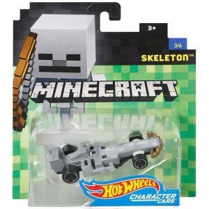 マインクラフト Minecraft マテル Mattel Toys ダイキャストフィギュア おもちゃ Hot Wheels Skeleton Diecast Character Car #3/6|fermart-hobby