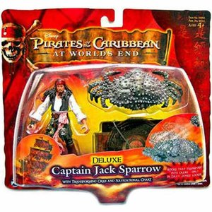 パイレーツ オブ カリビアン Pirates of the Caribbean ジズル フィギュア おもちゃ At World's End Series 3 Captain Jack Sparrow Action Figure [Deluxe]|fermart-hobby
