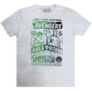 マーベル Marvel フロップハウス Flophouse メンズ Tシャツ トップス Avengers Hulk vs. Ultron Exclusive T-Shirt [X-Large]|fermart-hobby