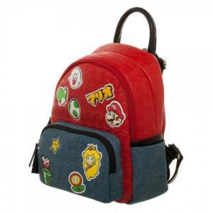 任天堂 Nintendo バイオワールド Bioworld ユニセックス ハンドバッグ バッグ Super Mario Brothers Patches Jrs. Mini Handbag Apparel fermart-hobby
